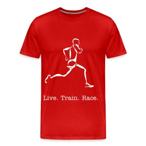 Live. Train. Race. - Men's Premium T-Shirt