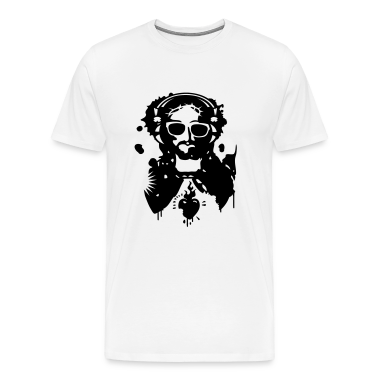 Jesus Graffiti with headphones and sunglasses T-Shirts