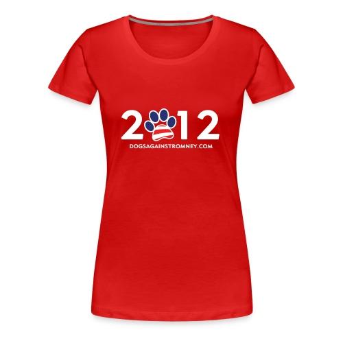 Official Dogs Against Romney 2012 Women's Plus Tee - Women's Premium T-Shirt