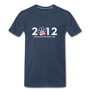 Official Dogs Against Romney 2012 Big Man's Tee - Men's Premium T-Shirt