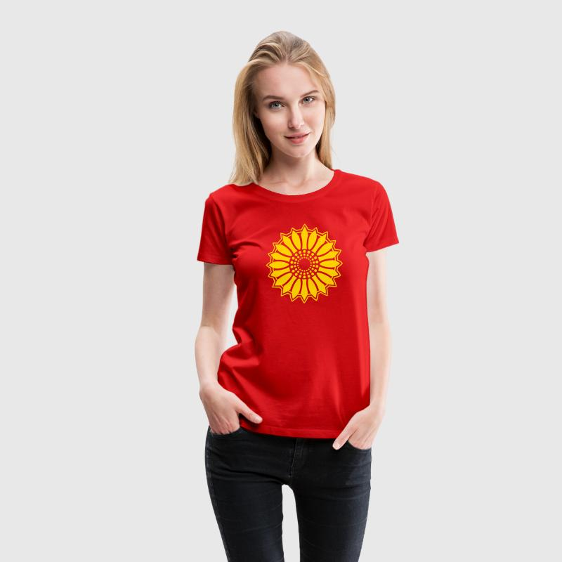 Sunflower - Follow the light!, c, symbol of vitality, joy and confidence, energy icon, symbol of green politics Women's T-Shirts - Women's Premium T-Shirt
