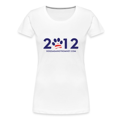 Official Dogs Against Romney 2012 Women's Plus Size - White - Women's Premium T-Shirt