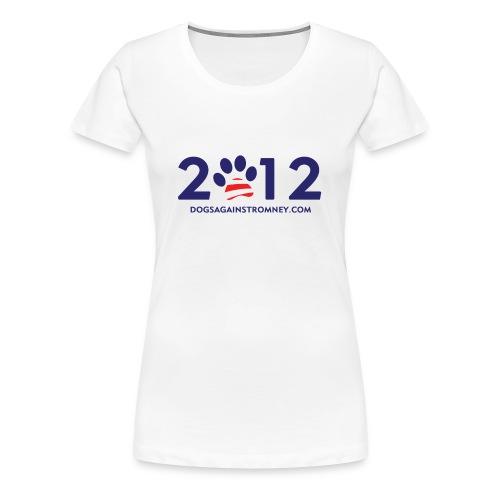 Official Dogs Against Romney 2012 Women's Plus Size - White - Women's Premium T-Shirt