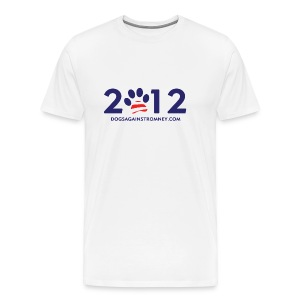 Official Dogs Against Romney 2012 Big Man's Tee - White - Men's Premium T-Shirt