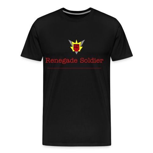Renegade Soldier T-shirt With RS On The Shoulders Side - Men's Premium T-Shirt