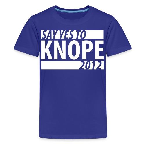 Say Yes to Knope 2012 Shirt - Kids' Premium T-Shirt