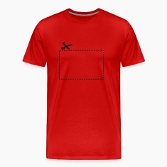 dashed_cut_out_square_1c T-Shirts