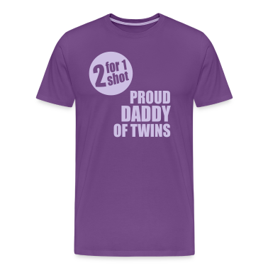2for1 proud daddy of twins Shirt FL