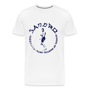 Sandro - School of Martial Arts (White and Navy) - Men's Premium T-Shirt