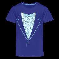 Kids' Shirts ~ Kids' Premium T-Shirt ~ Tuxedo T Shirt Deluxe Blue Youth