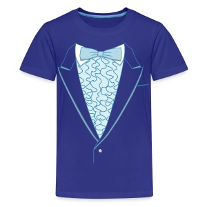 Tuxedo T Shirt Deluxe Blue Youth - Kids' Premium T-Shirt