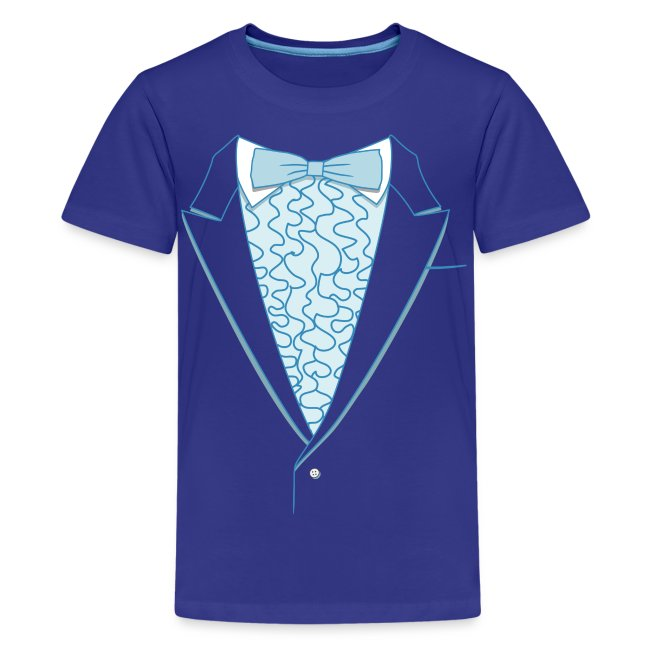 Tuxedo T Shirt Deluxe Blue Youth