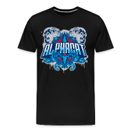 T-Shirts ~ Men's Premium T-Shirt ~ Alphacat Men's 3XL/ 4XL Tee - Black