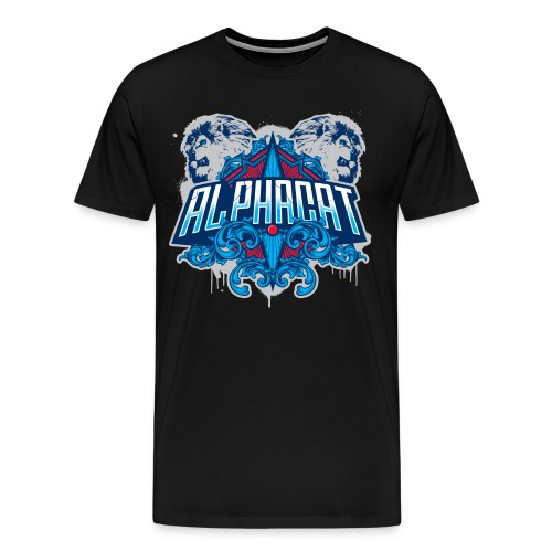 Alphacat Men's 3XL/ 4XL Tee - Black - Men's Premium T-Shirt