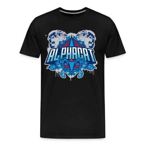 Alphacat Men's 3XL/ 4XL Tee - Black - Men's Premium T-Shirt
