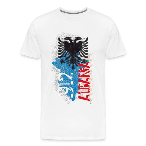 Bluze e bardhe me dizenjo Albania 1912 - Men's Premium T-Shirt
