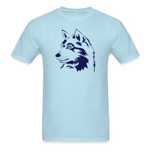 animal t-shirt wolf wolves pack hunter predator howling wild wilderness dog husky malamut - Men's T-Shirt
