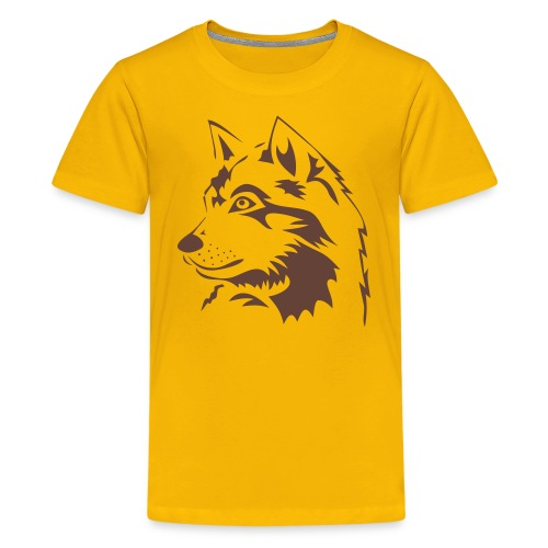 animal t-shirt wolf wolves pack hunter predator howling wild wilderness dog husky malamut - Kids' Premium T-Shirt