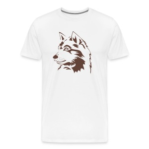 animal t-shirt wolf wolves pack hunter predator howling wild wilderness dog husky malamut - Men's Premium T-Shirt