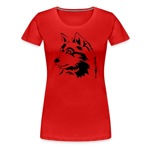 animal t-shirt wolf wolves pack hunter predator howling wild wilderness dog husky malamut - Women's Premium T-Shirt