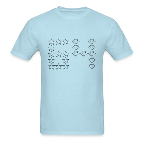 Stars and Foxes and a Sixty-Four for Guys - Men's T-Shirt