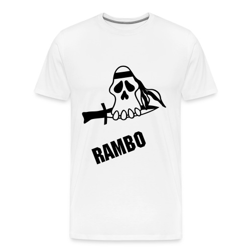 Rambo crazy Skull - Men's Premium T-Shirt