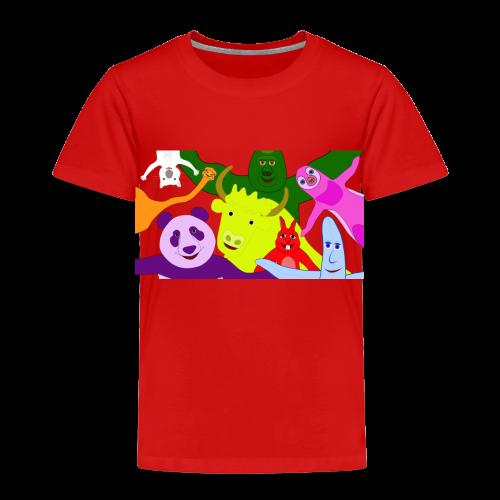 Animals and Banana - Toddler Premium T-Shirt