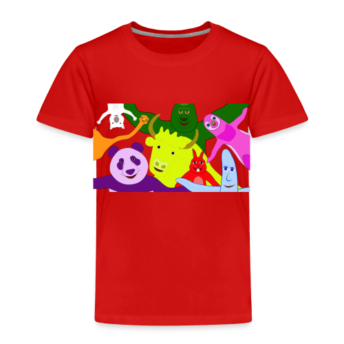 Animals and Banana - Toddler Premium T-Shirt