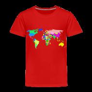 Baby & Toddler Shirts ~ Toddler Premium T-Shirt ~ The World