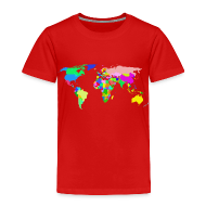 Baby & Toddler Shirts ~ Toddler Premium T-Shirt ~ The World