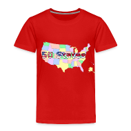 Baby & Toddler Shirts ~ Toddler Premium T-Shirt ~ 50 States