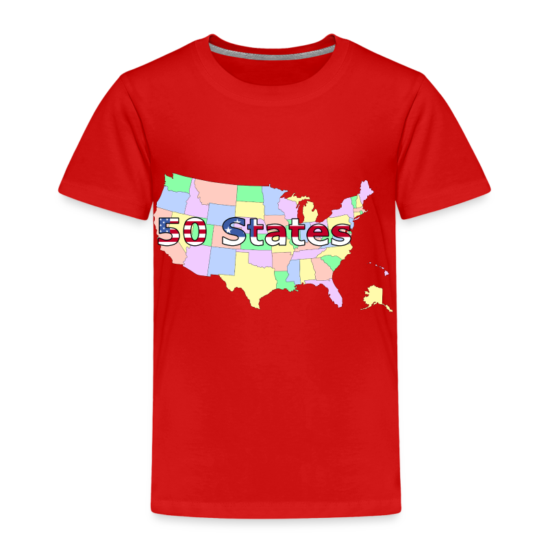 50 States - Toddler Premium T-Shirt