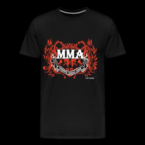MMA - Strength Courage Honor - WB - Men's Premium T-Shirt