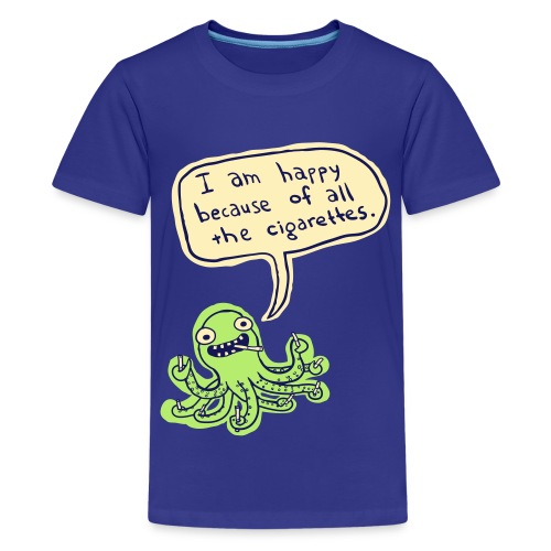 Ozzie the Chain-smoking Octopus - Kids' Premium T-Shirt