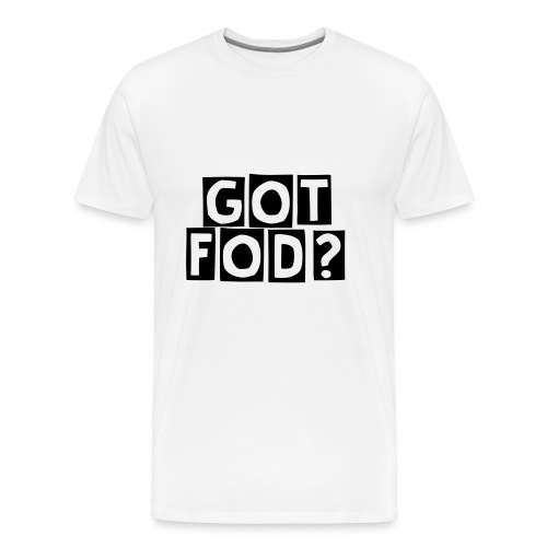 got fod black text - Men's Premium T-Shirt