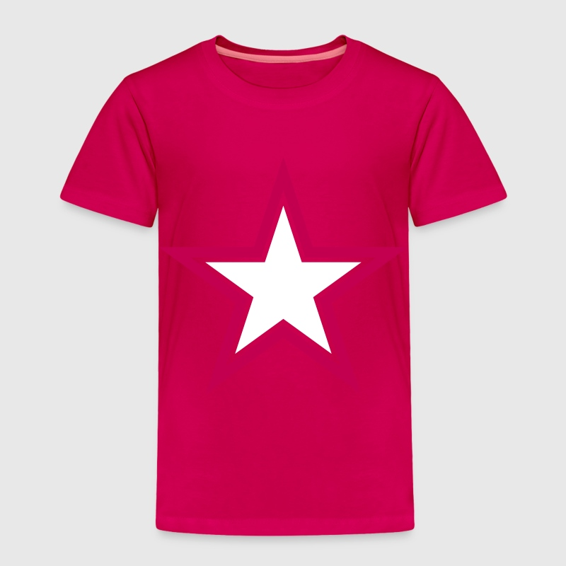 SHARP shape red and BLACK star outlined  Baby & Toddler Shirts - Toddler Premium T-Shirt