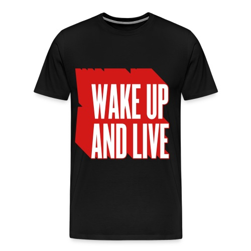 Men's Premium T-Shirt - wake,up,live,cocaine