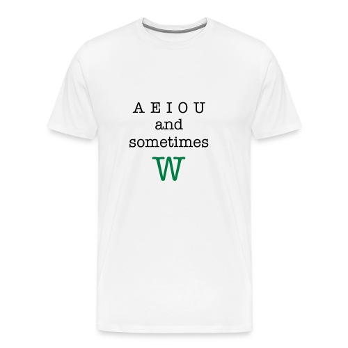 AEIOU - Men's Premium T-Shirt