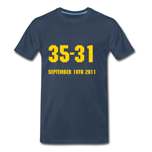 Under the Lights - UofM vs. ND - Men's Premium T-Shirt