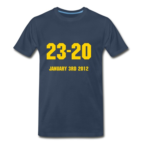 2012 Sugar Bowl Final Score Shirt - Men's Premium T-Shirt