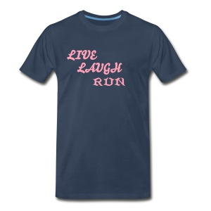 live laugh run - Men's Premium T-Shirt