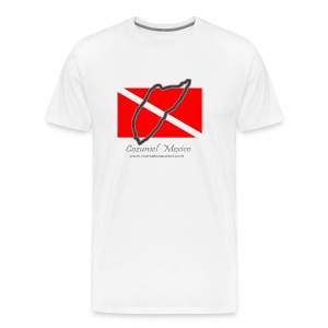 Dive Flag - Front Only Heavyweight - Men's Premium T-Shirt
