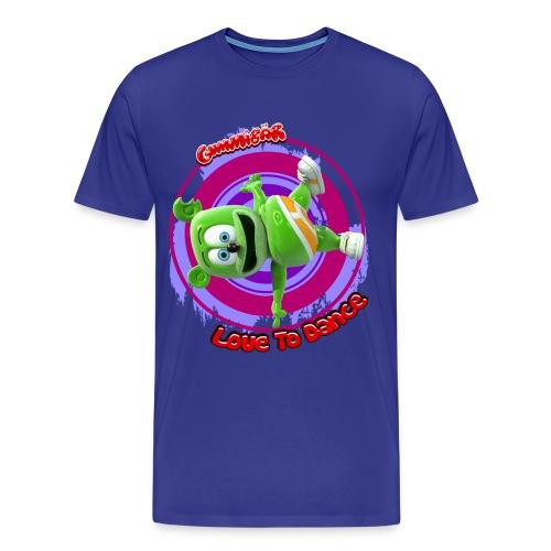 Gummibär (The GUmmy Bear) Love To Dance Men's 3XL & 4XL Shirt - Men's Premium T-Shirt