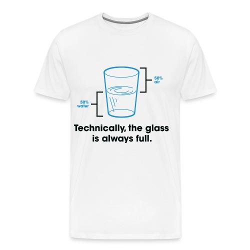 Glass Is Always Full Men's Heavyweight T-Shirt - Men's Premium T-Shirt