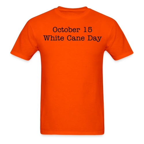 white Cane Day  - Men's T-Shirt