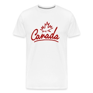 Canada Leaf Script Heavyweight T-Shirt - Men's Premium T-Shirt