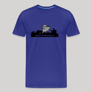 Detroit Flying Pig - Men's Premium T-Shirt