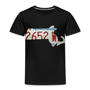 Massachusetts Plate State - Toddler Premium T-Shirt