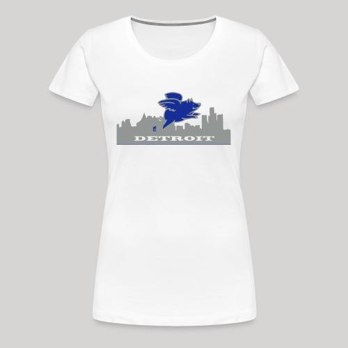 Detroit Flying Pig - Women's Premium T-Shirt