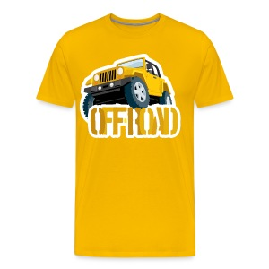 Yellow 4X4 off-road Jeep - Men's Premium T-Shirt